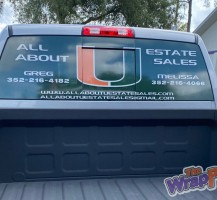 All About U Estate Sales Window Perf
