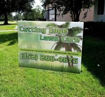 Cutting Edge Lawn Care Sign