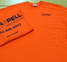 Chappell Construction Tees