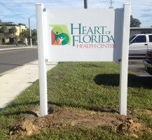 Heart of Florida Sign