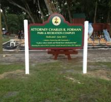 PFGC Park Sign