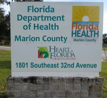 Florida Department of Health Sign