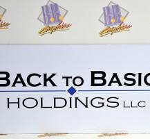 Back to Basics Holdings LLC. Vinyl Sign