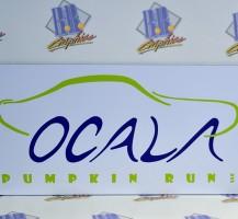 Ocala Pumpkin Run Vinyl Sign