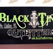 Black Tine Outfitter Sign
