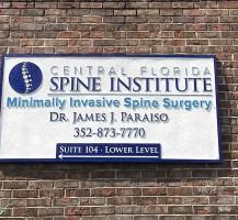 Central Florida Spine Institute Sand Blasted Sign