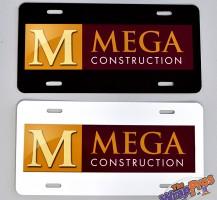 Mega Construction License Plates