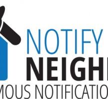 Notify Your Neighbor Logo Design