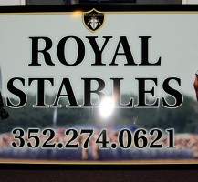 Royal Stables Sign