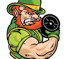 TCHS Leprechaun Weight Lifting Logo