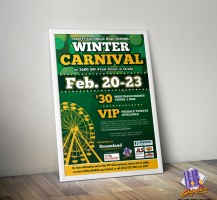 TCHS Carnival 2014 Ticket Poster