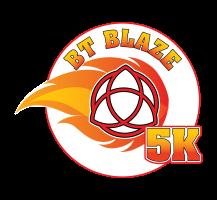 Blessed Trinity Blaze 5K Logo Design